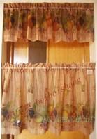 California fruit american coffee curtain semi-shade kitchen curtain rod curtain rustic curtain finished product