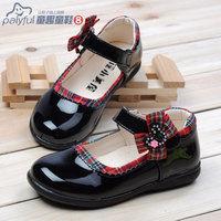 2014 black female child leather child single shoes princess shoes dance shoes shoes