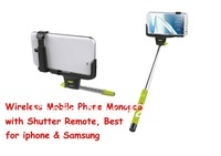 100pcs  DHLSelf-Shooting 7 Sections Foldable Wireless Mobile Phone Monopod Suits for ios android Smartphone Holder