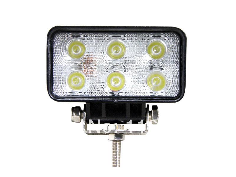 18W LED Work Light Offroad Light IP67 10-30V Truck Tractor Boat Car LED Headlight Worklight Flood Spot 18W Auto LED Work Lights(China (Mainland))