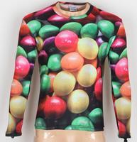 2014 New Fashion Men's Fruit 3D Creative T-Shirt # A10,Punk Three D Long Sleeve T Shirt S-6XL,Plus Size,free shipping