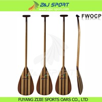 Bent Shaft Full Timber Outrigger Canoe Paddle
