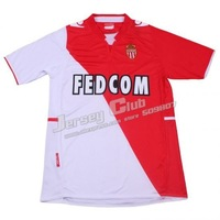 Best Thai quality 2014 Monaco soccer jersey,Free shipping Monaco soccer jersey home embroidery logo fans version