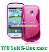 1pcs,s line silicone gel case,For Samsung Galaxy S Duos 2/Trend Plus S7582 S7580,high quality, black gel case cover skin