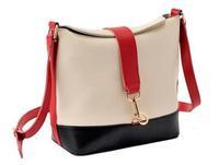 New 2014 Preppy style Women's Leather Handbag Shoulder Bag Lady Girl Bucket Design Messenger Cross body Bag Blosas