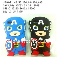 Free shipping Captain America phone case Battery Door Back Cover For Samsung