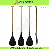 Carbon Fiber Outrigger Canoe Paddle With Wood Shaft