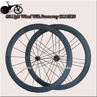 G3 Light wheel  with Powerway R13 HUB 50mm tubular bicycle wheels 700c 18H/21H Carbon fiber road bike Racing wheelset