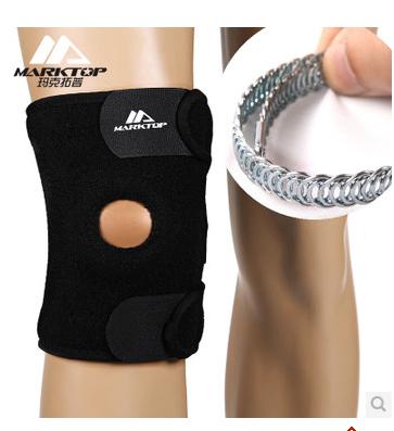 2014 Free Shipping Adjustable Sports Leg Knee Support Brace Wrap Protector Pads Cap Patella Guard Size Black(China (Mainland))