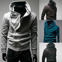 Hot Sale Mens Casual Zipper Sexy Slim Fit Top Designed Hoodies Sweatshirt Overcoat For Men Wholesale M-3XL