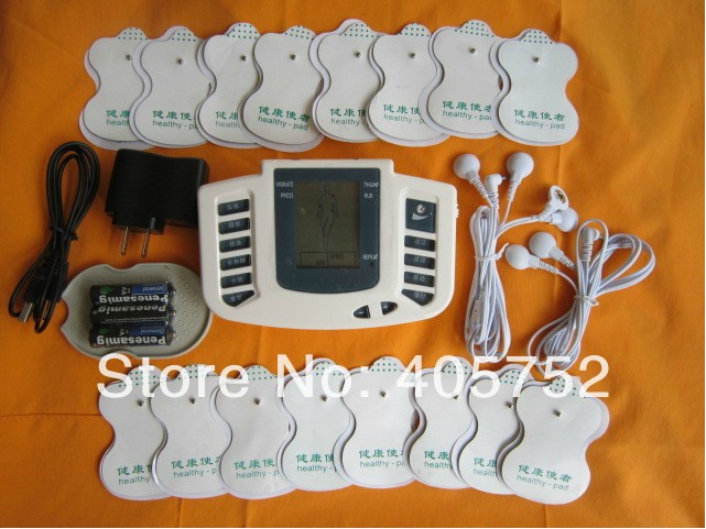 JR-309 Hot new Electrical Stimulator Full Body Relax Muscle Therapy Massager,Pulse tens Acupuncture +16 pads(China (Mainland))