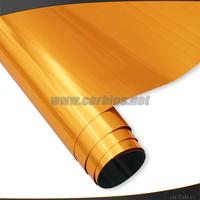 High quality stretch chrome mirror car wrap vinyl film  ,orange car change color stickers 1.52*20m