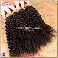 "malaysian virgin hair afro kinky curly virgin hair 3/4pc 8""-30"" Cheap malaysian curly hair extension remy human hair weaves"
