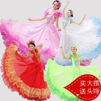 Fashion ballroom dance expansion bottom one-piece dress formal dress evening dress set women's
