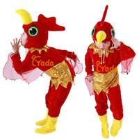 Child animal dance clothing clothes small cock bodysuit set spring and autumn