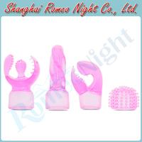 Various Kinds AV Wand G-Spot Stimulating AV Headgears Set-( 4 PCS ), Sex Toys Body Massager Audlt Products