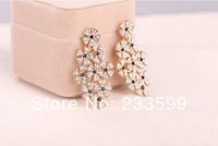 [DHL free delivery] 6pairs/lot Fabulous PARTY QUEEN crystal stud eardrop Gorgeous flowers shape romantic earrings