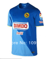 free shipping  3A+++ Best Thailand quality 2014-2015 American team blue soccer jersey , Mexico club American blue Football shirt
