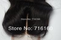 "Discount FREE SHIPPING Lace Closure Bleached Knots 3.5x4"" Top Closure Brazilian Virgin Hair,bleached knots closures"