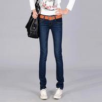 Spring New Women Jeans Pants Feet Thin Korean Wave Low waist Elasticity