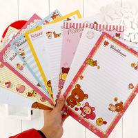 Hot-selling korea stationery bear envelope letter pad set gift