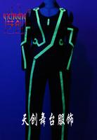 Luminous clothing el neon jacket luminous led light emitting costume