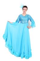 2014 square dance clothes set dance performance wear clothes expansion skirt choral service