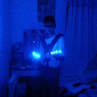 Led luminous props paillette luminous laser suspenders vest luminous clothes