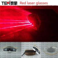 High quality red laser glasses laser glasses led glasses lithium battery charge type led glasses