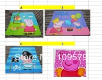 factory price 4design choose Free Shipping AU NZD Peppa Pig girl girls boy boys kids Fleece soft comfortable Blanket Blankets