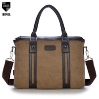 2014 new Korean version of single shoulder messenger bag diagonal notebook computer briefcase for men and women canvas handbag