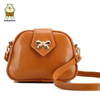 Free shipping! 7 Color Good quality Bow bag women lady's Candy Color Messenger Bag Fashion all match handbags shoulder bag