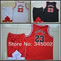 Chicago #23 Michael Jordan Kids/youth white/Red/black Basketball (Jersey+short),2014 baby/boys/child basketball Uniforms As Gift