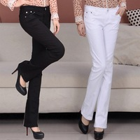 Fall New Women Leisure Trousers In The Lumbar Elasticity Slim Pants Speaker Ms Jeans