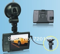 2014 New Car DVR with two cameras HD 720p G-Sensor  Vehicle Camera Video 3.5inch LED screen  BY-07209
