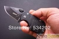 20pcs/lot Boker QQ mini black pig folding knife Pocket knives 420c 54hrc G10 handle Knife folding knives free shipping Wholesale