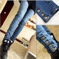 Autumn Skinny Feet Jeans Women Pants Harlan Pants Korean Thin