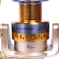 Free shipping spinning fishing reel 6BB gear ratio 4.5:1 big fish reel GX10000 fishing tackle wholesale and retail