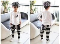 hot-selling spring new 2014 brand children kids boys stripe large zipper harem pants cotton overall leggings1 pcs/lot retail