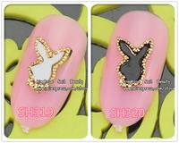 sh319/320 wholesale  3D Alloy colorful Nail Art stickers Rhinestones Decoration Nail art 50PCS/LOT nail jewelry free shipping