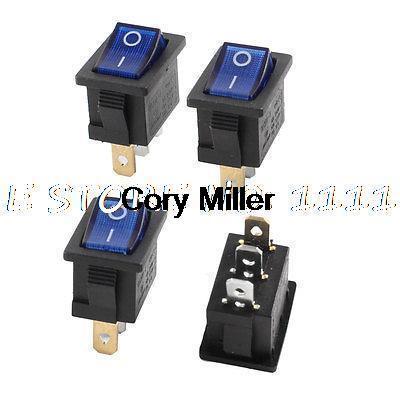 Кулисный переключатель AC SPST 125V/10 250 /6A LED 3
