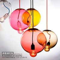 Vintage loft industrial Glass pendant light restaurant lamp brief modern decoration lamp d8186 1pc
