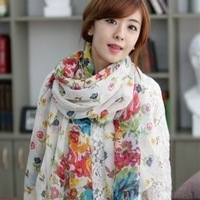 Silk scarf fluid women's autumn and winter scarf silk scarf female long design silk scarf cape rustic