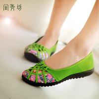 Free Shipping 2014 Spring Women's Single Flat Women Casual Cotton-Made Flat Heel Shoes Female