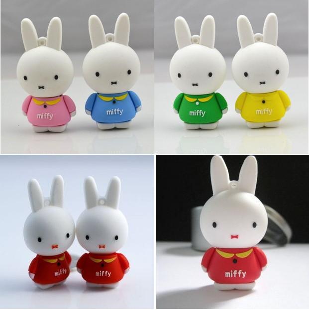 Lovely Rabbit USB Flash Drive 4GB 8GB 16GB 32GB High Speed pen gift drive Free Shipping(China (Mainland))