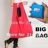 35.5cmx58cm Wholesale eco folding nylon  tote baggu shopping bag foldable free shipping by express