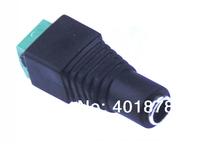 Free ship 100pcs 2.1 x5.5 Female Jack DC Power cable for CCTV Surveillance BNC Connector
