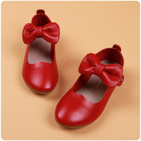 Sell like hot cakes 2014 soft leather genuine leather girls child leather shoes princess single shoes child cow muscle outsole