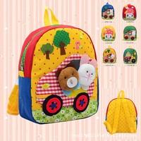 New 2014 Children Cartoon Bag Girls School Backpacks Cat Cute Animal Book bags Satchel Canvas backpack Free Shipping