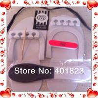 200sets/lot 7pcs pedicure pack nail file and foot assasories set for cutomer nail art /care Beauty tools FREE SHIPPING NFS001
